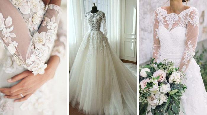 esküvő, ruha, trend, 2018, divat, virág, csipke,