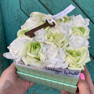 virágdoboz best mom rózsadoboz virágküldés