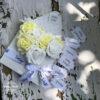 virágboríték, virág borítékban, rózsaboríték