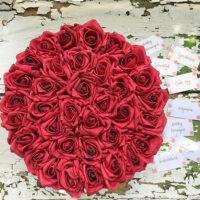 virágdoboz, virágcsokor, rózsabox