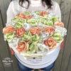 virágdoboz, virágbox, virágcsokor, rózsabox