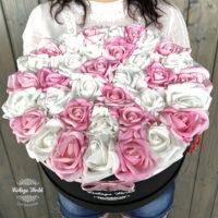 Virágdoboz, virágcsokor, rózsabox, virágbox
