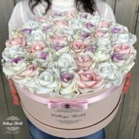 virágcsokor, virágbox, rózsabox, virágdoboz