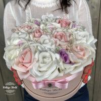 virágcsokor, virágbox, virágdoboz