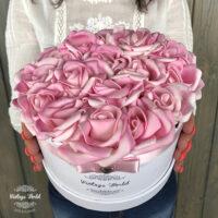Virágcsokor, virágbox, rózsabox,