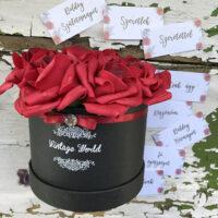 virágcsokor, virágbox, rózsabox, rózsadoboz