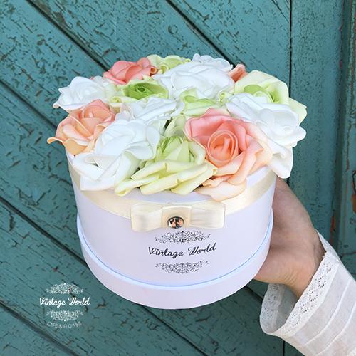 dobozos rózsa, virágdoboz