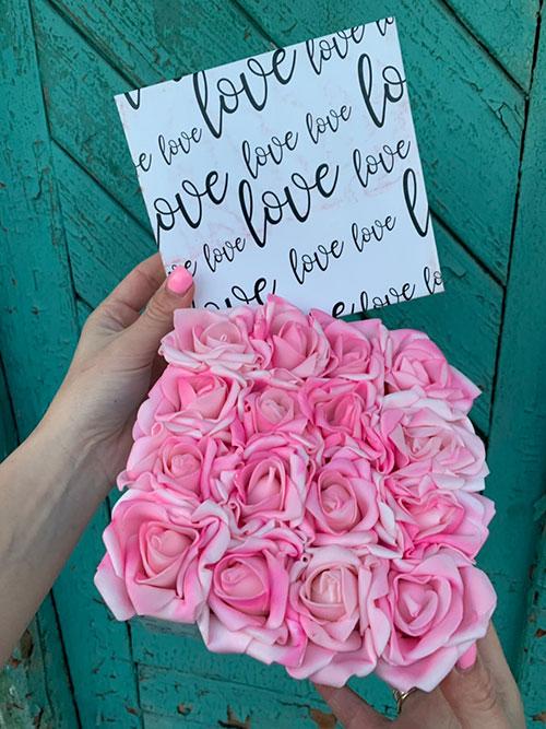 virágdoboz love rózsadoboz virágküldés