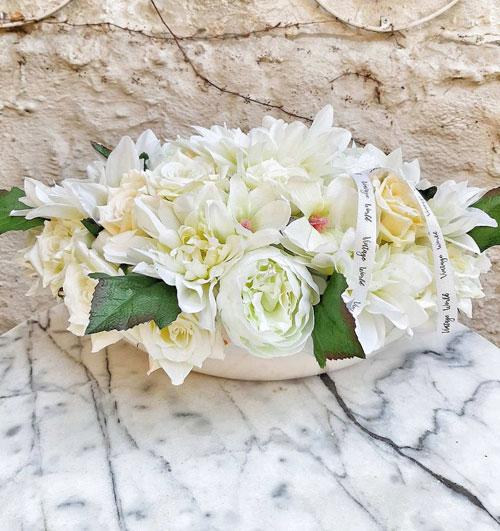 Tavaszi selyemvirág asztaldísz