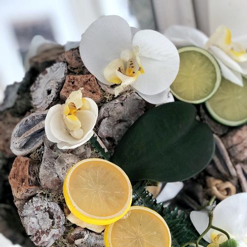 lemon dream nyári kopogtató, lemon dream, nyári, ajtódísz, kopogtató, dekoráció, lemon dream nyári kopogtató, lakásdekoráció