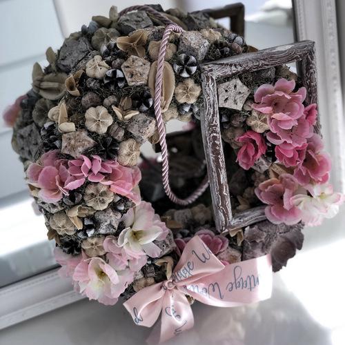 tavaszi_kopogtato, ajtodisz, ajtokopogtató, dekoracio, lakas_dekoracio, otthon, home_decor, vintage_world, cherry blossom kopogtató,