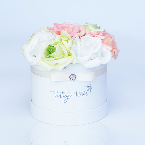 virágküldés habrózsa amsterdam rózsadoboz