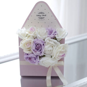 purple love habrózsa boríték