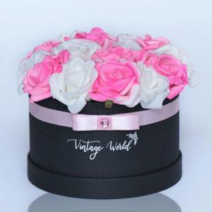 virágküldés habrózsa hamburg rózsadoboz
