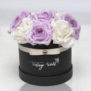 virágküldés habrózsa madrid rózsadoboz