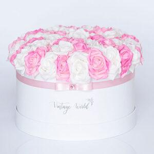virágküldés habrózsa miami rózsadoboz