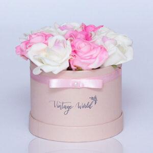 virágküldés habrózsa milano rózsadoboz