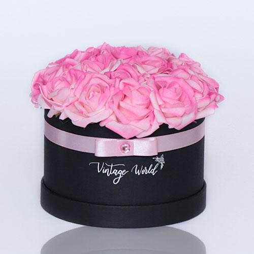 virágküldés habrózsa moscow rózsadoboz