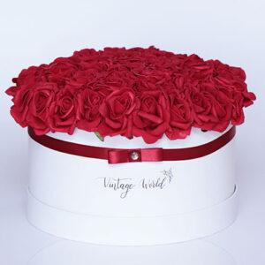 virágküldés habrózsa paris rózsadoboz
