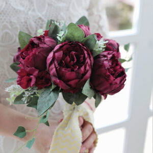 burgundy wedding dream bordo menyasszonyi csokor