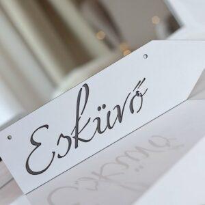 esküvői tábla