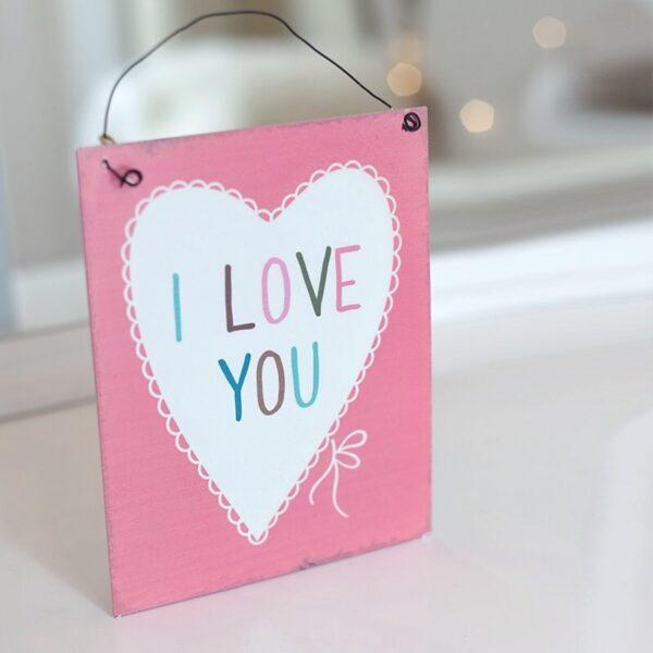 I Love You dekoráció
